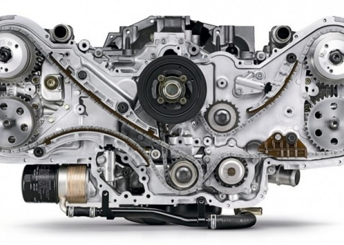 Оппозитный двигатель.