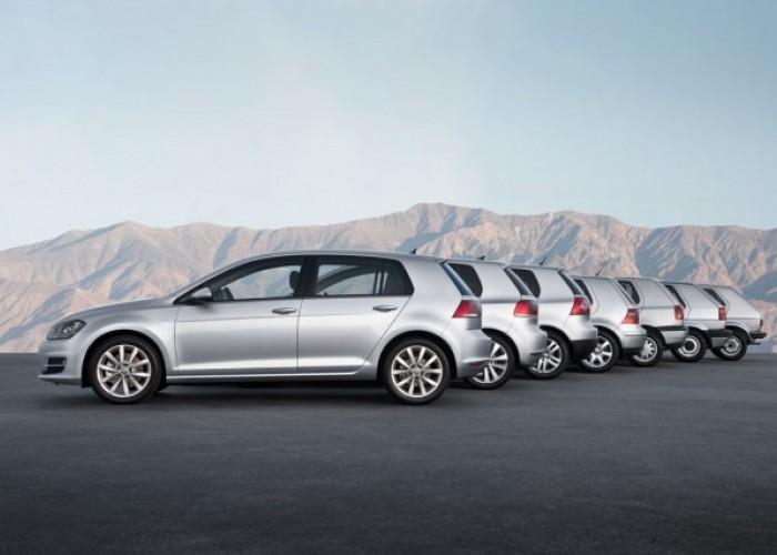 Все поколения Volkswagen Golf