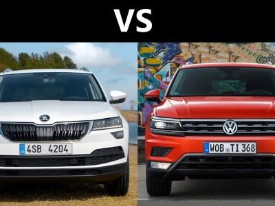 Сравнительный анализ кроссоверов Skoda Karoq и VW Tiguan 2